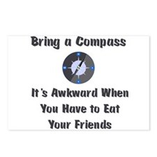 Bring Compass or Eat Friends Postcards (Package of
