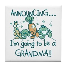 Veggies Future Grandma Tile Coaster