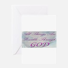To God Be The Glory Greeting Card