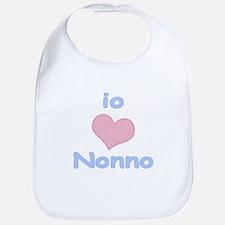 I Heart Grandpa Italian Bib