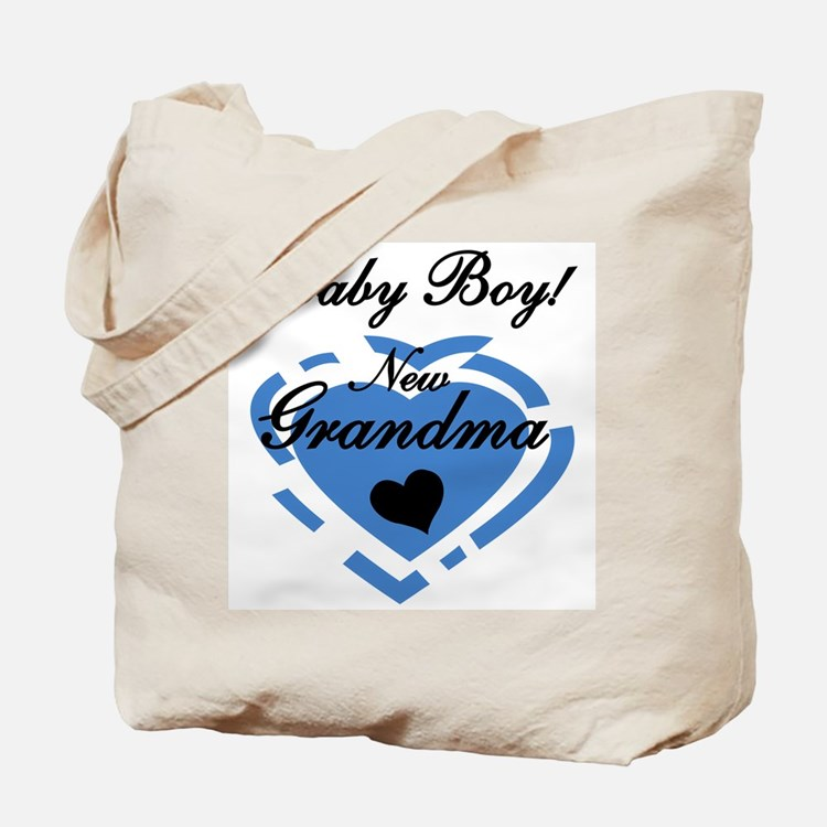 Baby Boy New Grandma Tote Bag