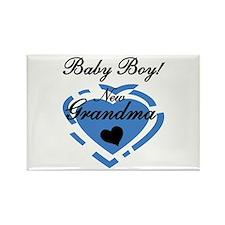 Baby Boy New Grandma Rectangle Magnet