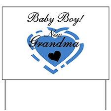 Baby Boy New Grandma Yard Sign