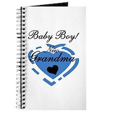 Baby Boy New Grandma Journal