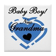 Baby Boy New Grandma Tile Coaster