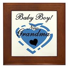 Baby Boy New Grandma Framed Tile