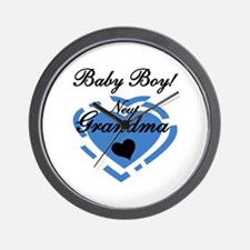Baby Boy New Grandma Wall Clock