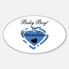 Baby Boy New Grandma Decal
