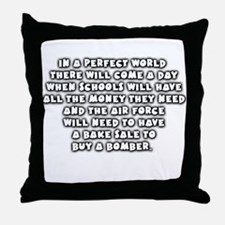 Air Force bake sale Throw Pillow