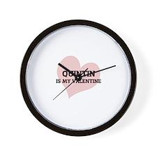 Quintin Is My Valentine Wall Clock