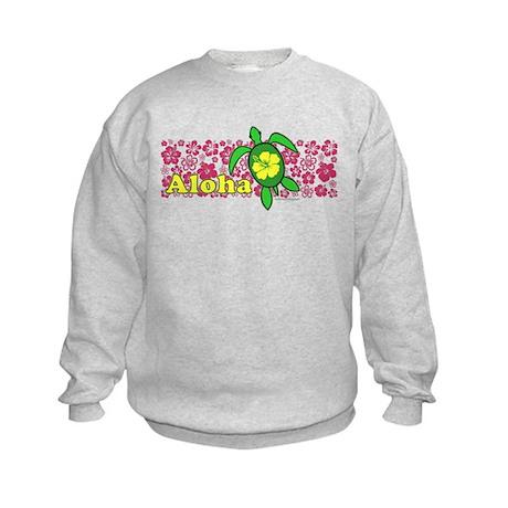 Aloha Hawaii Turtle Kids Sweatshirt