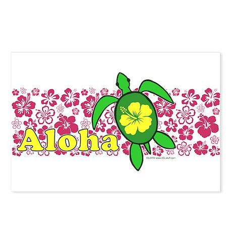Aloha Hawaii Turtle Postcards (Package of 8)