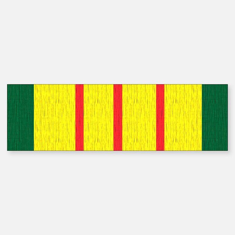 Vietnam Veteran Flag Bumper Bumper Sticker