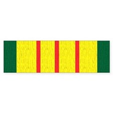 Vietnam Veteran Flag Bumper Sticker