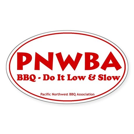 Pacific Northwest Barbecue As Sticker (Oval 10 pk)