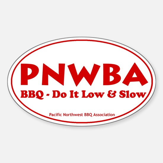 Pacific Northwest Barbecue As Sticker (Oval)