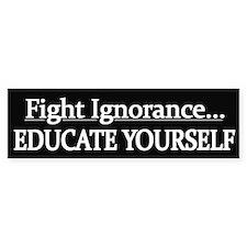Educate Yourself - Bumper Sticker