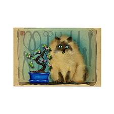 Bonsai Cat Rectangle Magnet