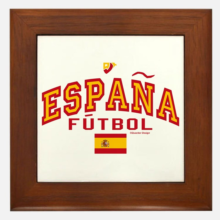 Espana Futbol/Spain Soccer Framed Tile