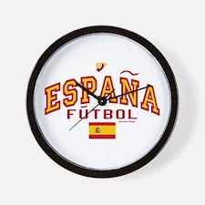Espana Futbol/Spain Soccer Wall Clock