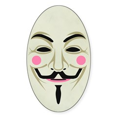 Guy Fawkes Sticker (Oval)