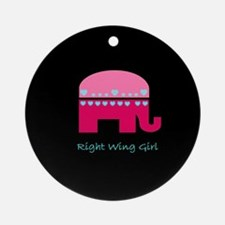 Right Wing Girl Ornament (Round)