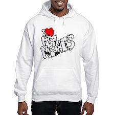 I Heart My Newfs Hoodie