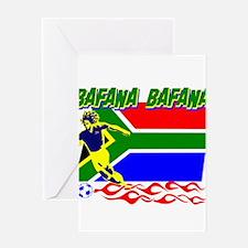 Bafana bafana of South Afica Greeting Card