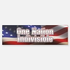 One nation indivisible Bumper Bumper Sticker