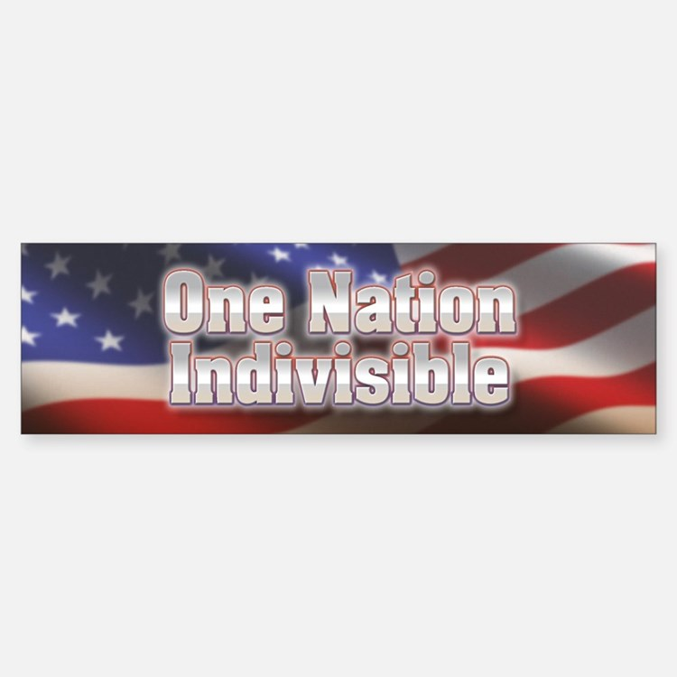 One nation indivisible Bumper Bumper Sticker