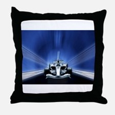 Speedy Blue F1 Throw Pillow