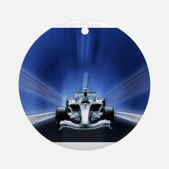 Speedy Blue F1 Ornament (Round)