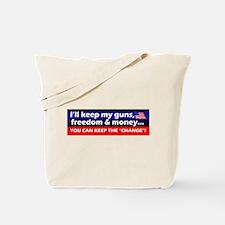 I'll Keep My Guns, Freedom & Money Flag Tote B