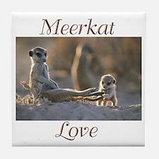 """Meerkat Love"" Tile Coaster"