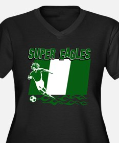 Super Eagles of Nigeria Women's Plus Size V-Neck D