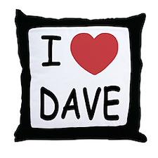 I heart Dave Throw Pillow