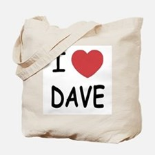I heart Dave Tote Bag