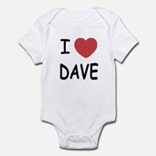 I heart Dave Infant Bodysuit