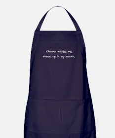 Obama Throw Up Apron (dark)