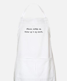 Obama Throw Up Apron
