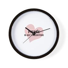 Pierre Is My Valentine Wall Clock