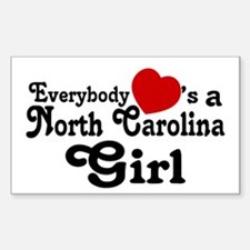 Everybody Hearts a NC Girl Decal