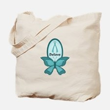 Believe- Teal Awareness Tote Bag