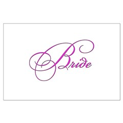 Bride in white Posters