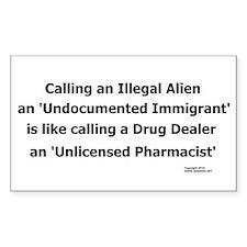 Undocumented Immigrant Decal