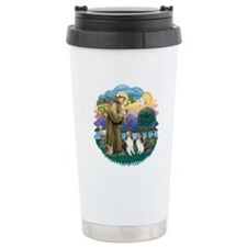St Francis (Wff) - Two Shelties Travel Mug