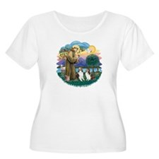 St Francis (Wff) - Two Shelties T-Shirt