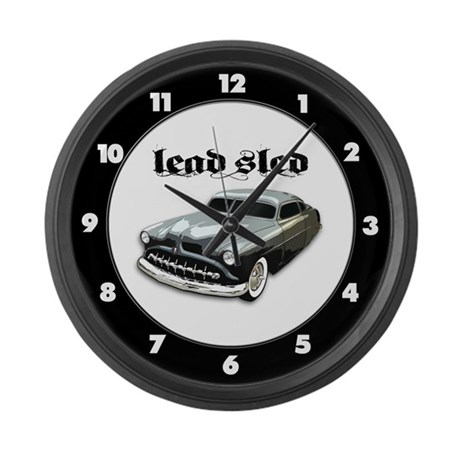 Lead Sled Large Wall Clock