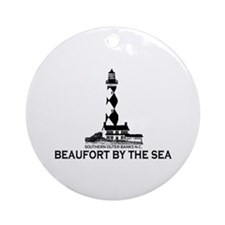 Beaufort NC - Lighthouse Design Ornament (Round)
