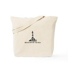 Beaufort NC - Lighthouse Design Tote Bag